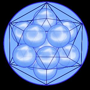 Додекаэдр  сформированный 12-тью сферами